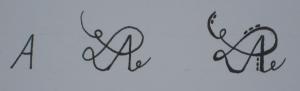 Fancy Letters Buchstaben 1