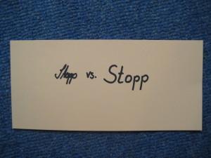 Stopp vs STOP