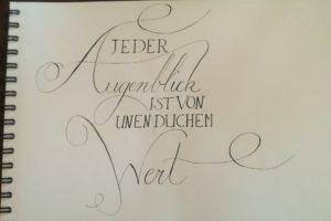 Kalligraphie Augenblick 1