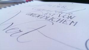 Kalligraphie Augenblick 3