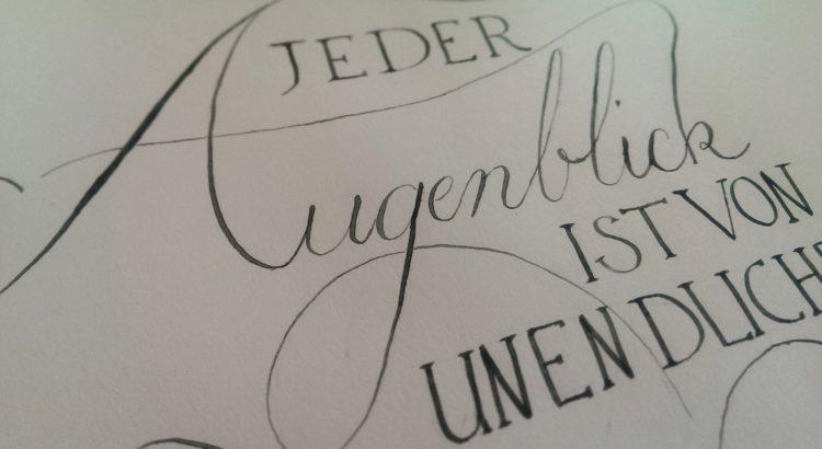 Kalligraphie Augenblick 4