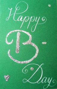 Geburtstag Kalligraphie