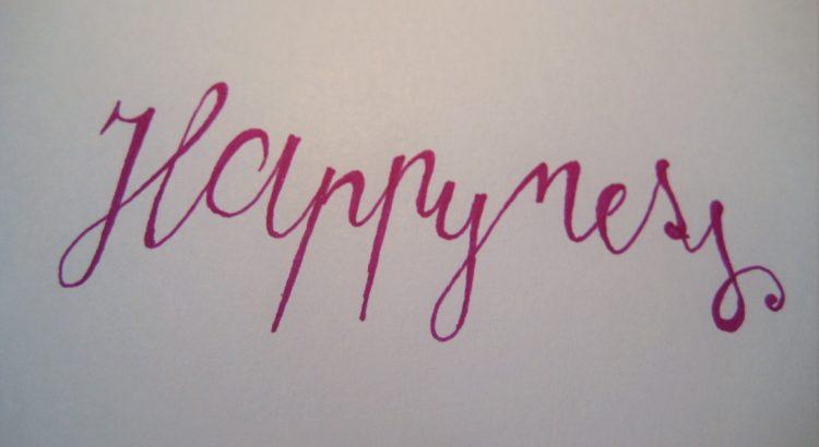 Happyness Kalligraphie 1