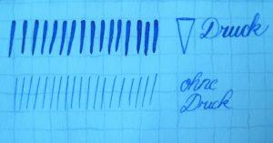 Kalligraphie Basics Linien