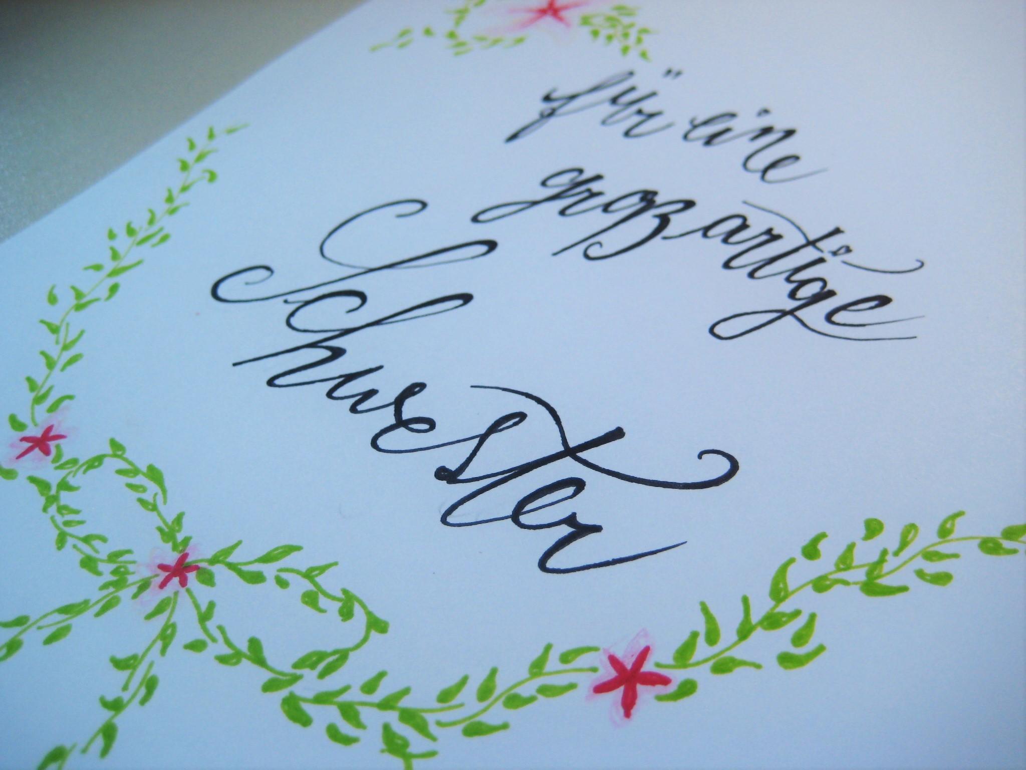 Eine Geburtstagskarte für jemand Besonderen – meine Schwester ... - Geburtstagskarte Schreiben