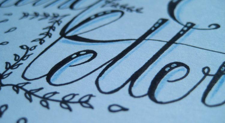 hand lettering Ausschnitt