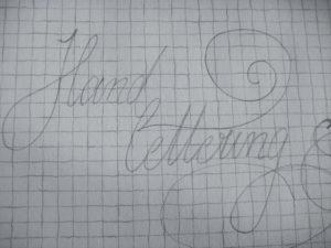 hand lettering Skizze Bleistift nackt