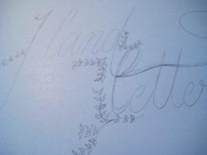 hand lettering Skizzenausschnitt