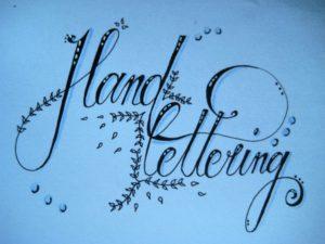 hand lettering fertig