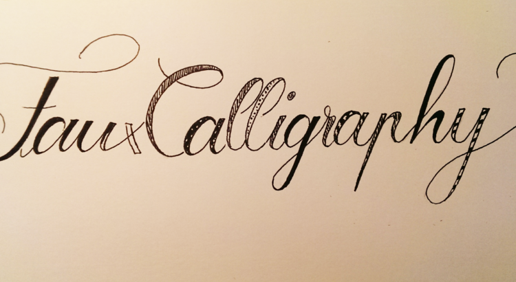 faux-calligraphy