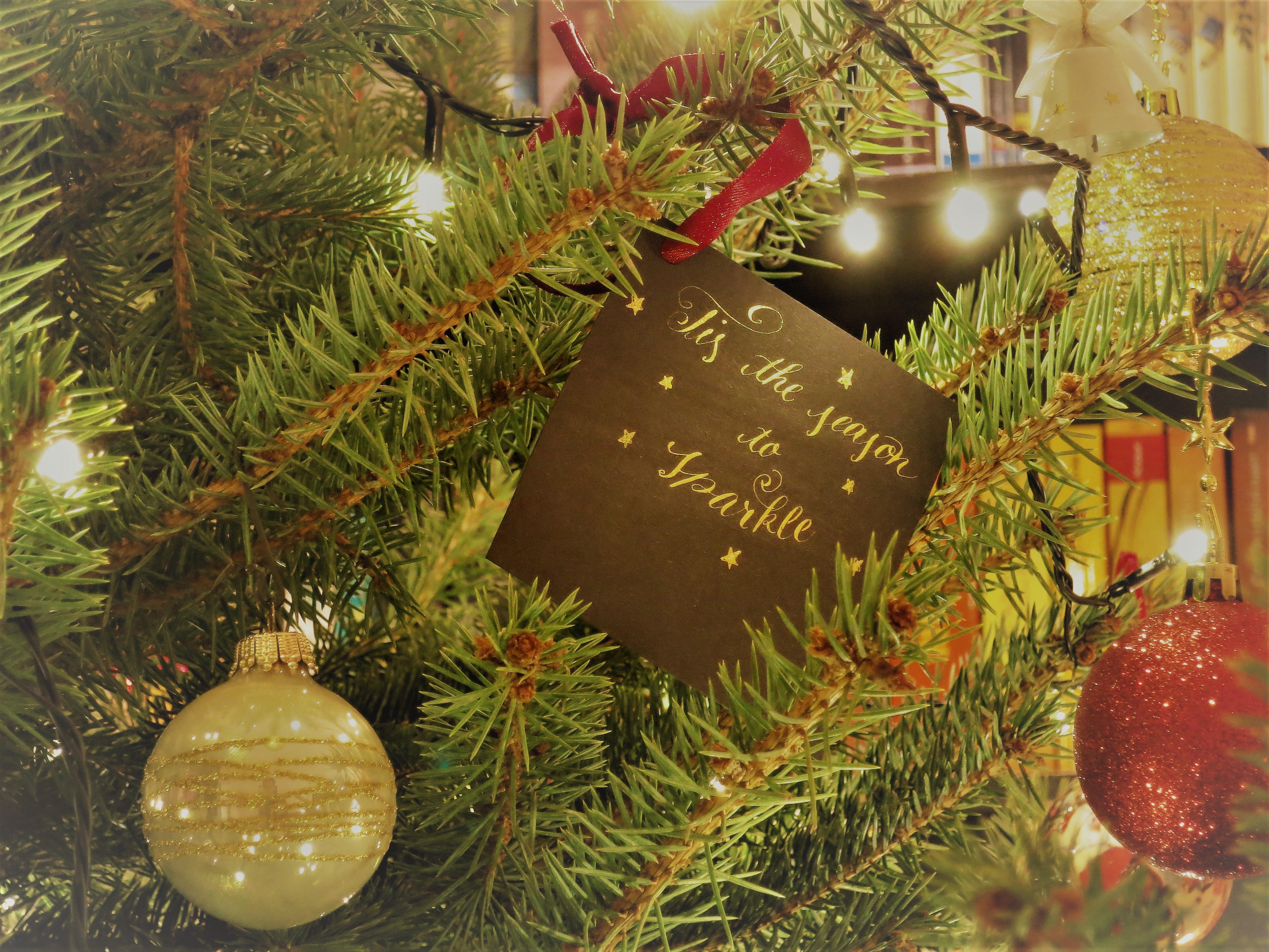 Weihnachtsbaum Natürlich.Last Minute Deko Für Kalligraphen Nobile Blog